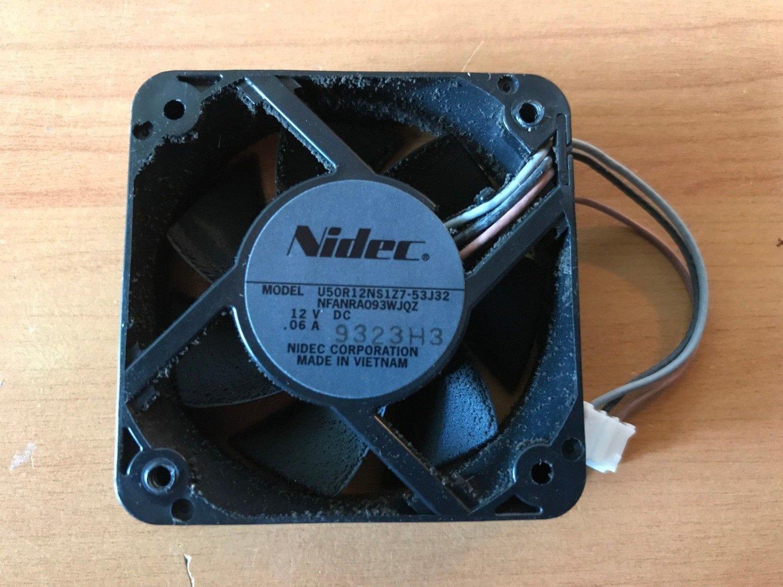 Nidec Three Pin Cooling Fan U50R12NS1Z7-53J32 DC12 .06A