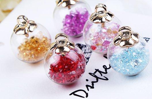 B1  17MM Glass Bead Ball Pendants/Findings/Loose Beads, 9 pics