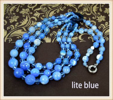 J2   Handmade Real Agate Stone Necklace, 4 colors