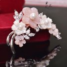 J20  AA+  Mother of Pearl Flower Brooch Pin