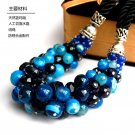 J45 Handcrafted  Blue Agate Choker