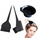Hair Coloring Brush & Bowl 3 Pcs Set Tint Tool Bleach Dye Color Dying Brushes!