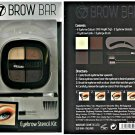 W7 Brow Bar Eye Brow Stencil Kit With 4 Eyebrow Colours, Stencils, Brushes, Comb