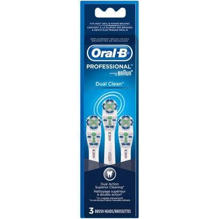 Oral-B Dual Clean Replacement Electric Toothbrush Heads, 3 count