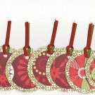 Set of 8 Poinsettia Christmas Holiday Gift or Hang Tags