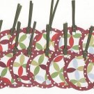 Set of 16 Poinsettia Pattern Christmas Holiday Gift or Hang Tags