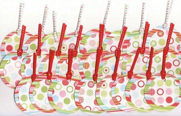 Set of 24 Lots-o-Holiday Dots Gift or Hang Tags