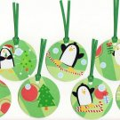 Set of 7 Penguin Christmas Gift or Hang Tags