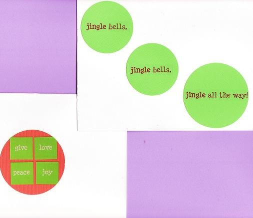 2 Christmas Holiday Cards with Envelopes