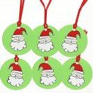 Set of 6 Santa Gift or Hang Tags