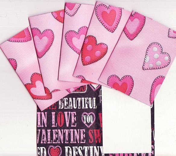 Set of 6 Valentines Day Patchy Heats Cards