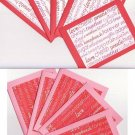 Set of 10 Valentines Day Love Wording Cards with Envlopes