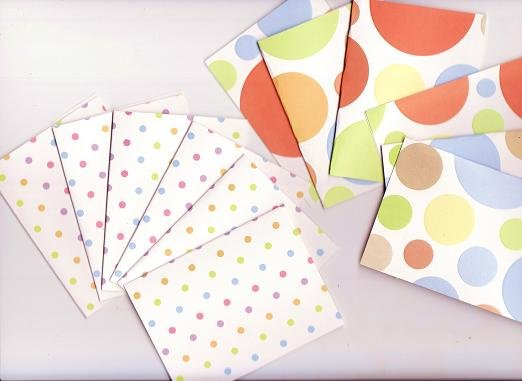 Set of 12 Rainbow Colored Dimensional Note Cards