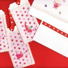 Valentines Day Set - 1 Card with Matching Envelope and 3 Tags with Felt