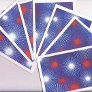 Set of 7 Fireworks Patriotic Cards with Envelopes