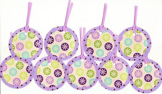 Set of 9 Starburst Polka Dot Gift or Hang Tags