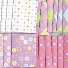 Set of 24 Preppy Pastel Flower Note Cards