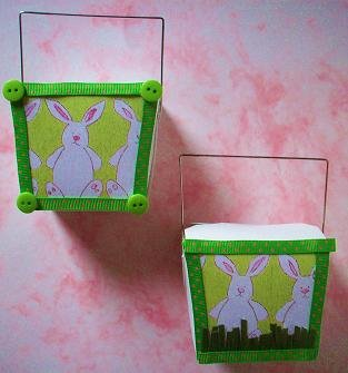 Set of 2 Easter Bunny Chinese Take Out Boxes