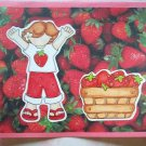 Large Strawberry Stand Girl Card