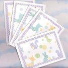 Set of 5 Glittered Forest Friends Cards with Envelopes