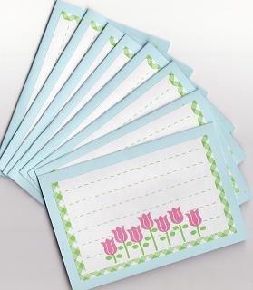 Set of 8 Tulip Garden Note Cards