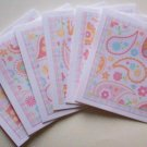 Set of 6 Bohemian Paisley Flower Cards