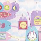 Set of 10 Pastel Bling Cardstock Easter Gift or Hang Tags