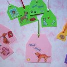 Set of 14 Pet Love Multi Colored Gift or Hang Tags