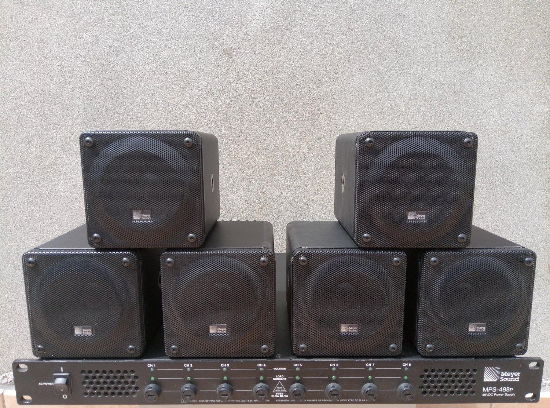 6 x Meyer Sound MM4-XP + Meyer Sound MPS-488P