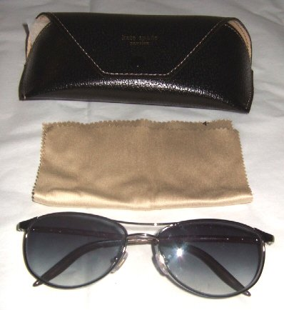 NEW AUTHENTIC KATE SPADE SUNGLASSES JIMEALE RUTHENIUM SILVER GRAY with CASE