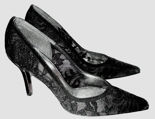 NIB STUART WEITZMAN BLACK LACE DRESSY PUMPS SHOES sz 8 N - Retail price: $275