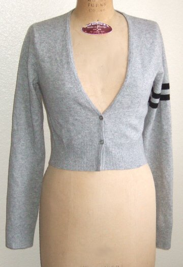 NWT JAMES PERSE CASHMERE / MERINO WOOL SWEATER CARDIGAN HEATHER GRAY size 3 (M) $295