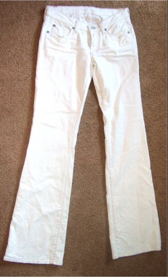 NWT 7 SEVEN FOR ALL MANKIND JEANS BOOTCUT WHITE CORDUROY  31 / 12