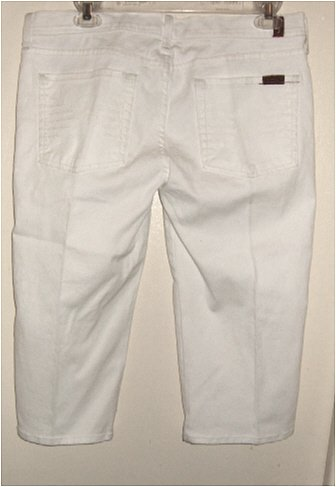 NWT SEVEN FOR ALL MANKIND JEANS COLETTE WHITE SHORTS 32 / 14