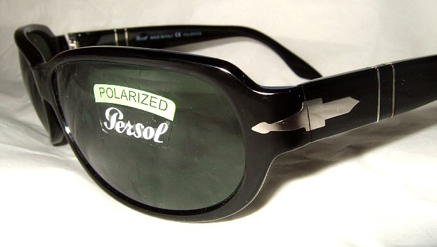 NEW AUTHENTIC PERSOL SUNGLASSES BLACK with CASE 2765-s