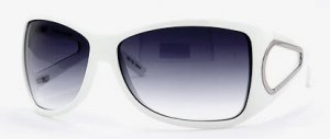 NEW MARC JACOBS SUNGLASSES & CASE WHITE MJ 043 MJ043