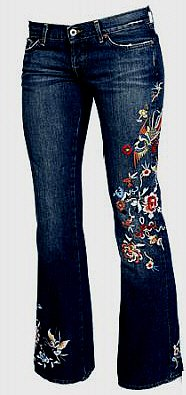 NWT LUCKY BRAND JEANS LIL MAGGIE EMBROIDERED GOLDFISH size 27 / 4 msrp $198