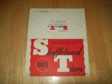 Shuffleboard Times Rate Card