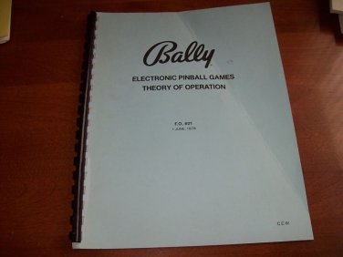 Bally Electronic Pinball Games Theroy of Operation