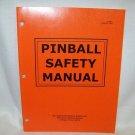 Pinball Saftey Manual Original