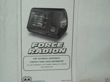 Force Radion 2002 Merit Manual Original