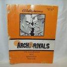 Arch Rivals Arcade Game Manual Original