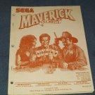 Original Pinball Manual: Maverick by Sega