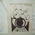 Capcom Bowling Arcade Game Manual Original