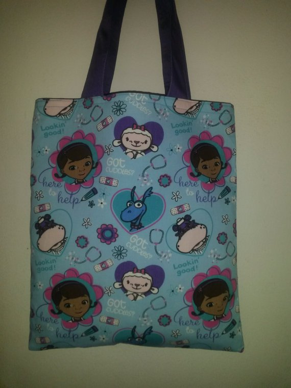 Disney's Colorful Doc McStuffins and Friends Handmade Tote