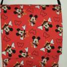 Mickey Mouse Red and Black Messenger Bag, Cross Body, Shoulder Bag for Toddler and Teens