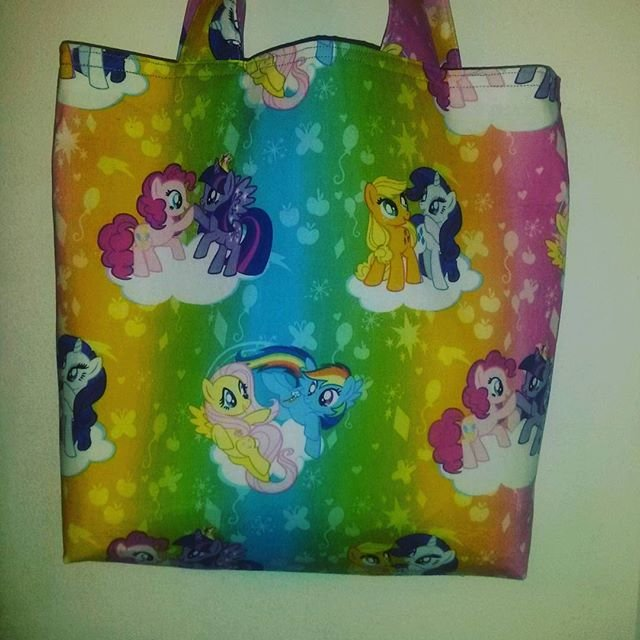 My Little Pony Rainbow Bright Cotton Print Tote
