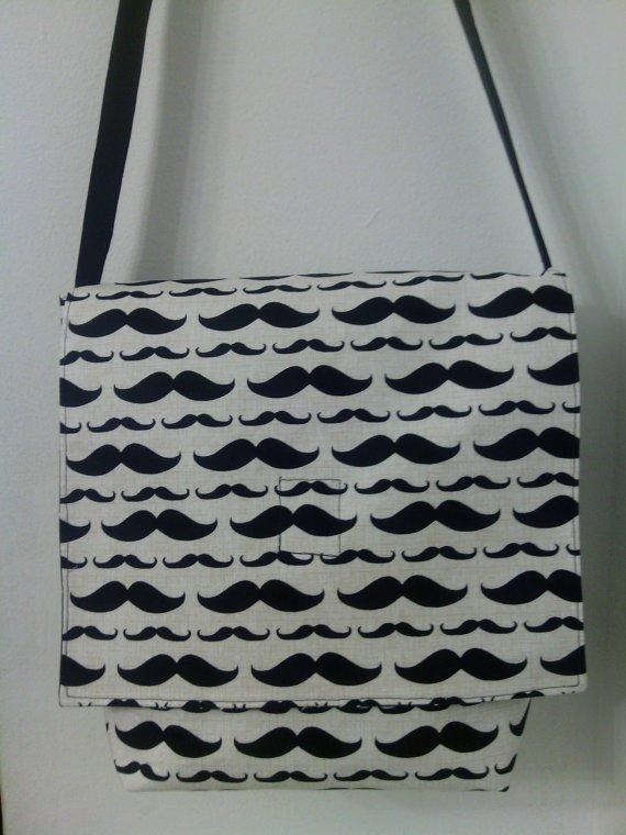 Mustache Shoulder / Messenger  /Cross Body Bag