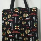 Large Inspired Chicago Blackhawks Handmade Tote (BLACK)