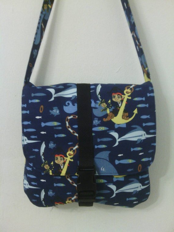 Jake And The Never Land Pirates Inspired Toddler Size Messenger / Cross Body Bag